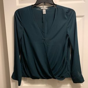 Green H&M blouse. L. Never worn.